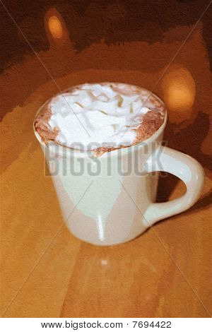 Stock Image Of Capuchino Cup