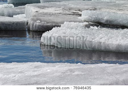 Ice Floes In The Water