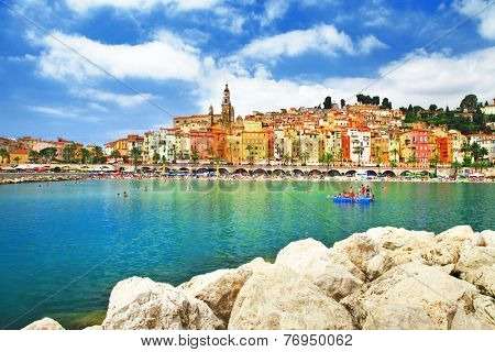 Menton - sunny town in south of France