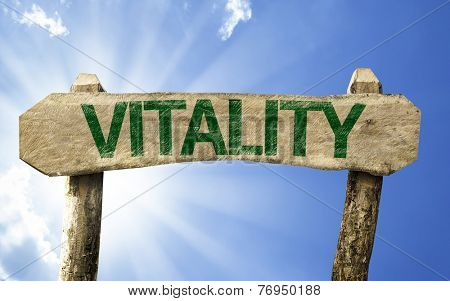 Vitality sign on a summer day