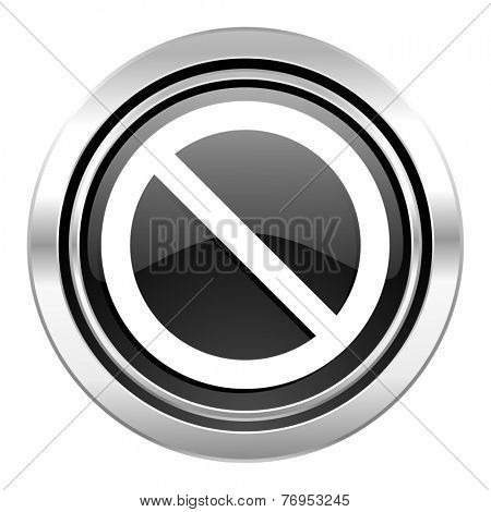 access denied icon, black chrome button