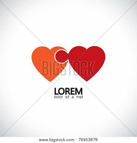 Abstract Concept Vector Icon Puzzle Hearts