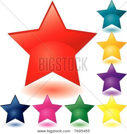 Glass star buttons