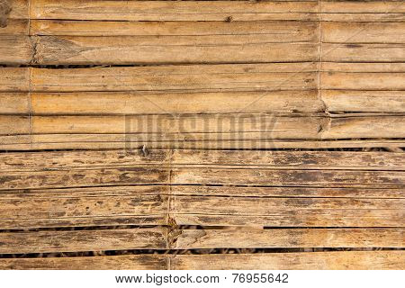 Wall of bamboo texture background