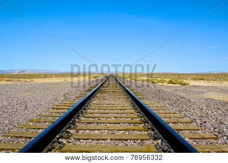 Railroad Tracks into the Distance