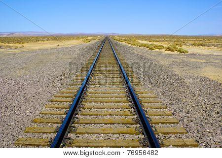 Wide View Railroad Track