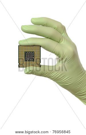 Computer Processor In Human Hand