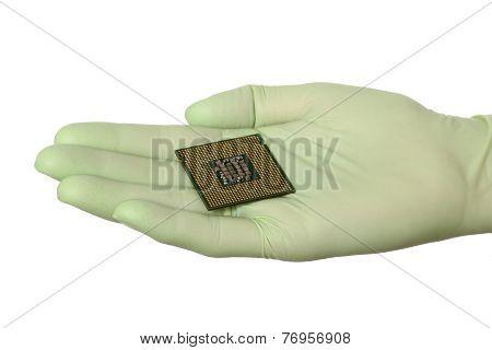 Computer Processor In Human Hand