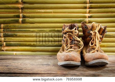 Old Work Boots, Still Life.