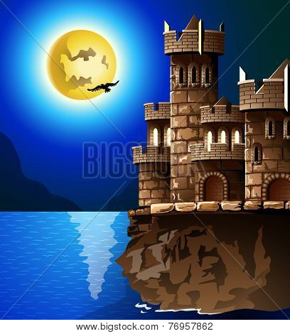 Castle And Moon