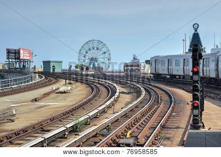 Coney Island, Subway, Brooklyn, New York