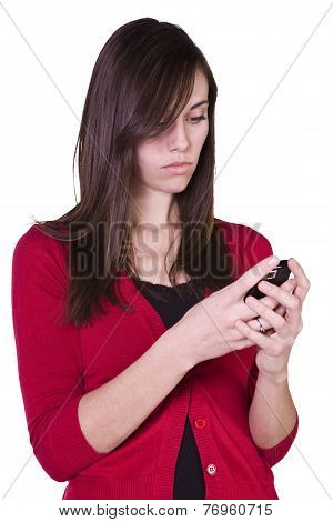 Beautiful Girl Texting