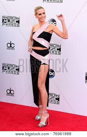 LOS ANGELES - NOV 23:  Heidi Klum at the 2014 American Music Awards - Arrivals at the Nokia Theater on November 23, 2014 in Los Angeles, CA