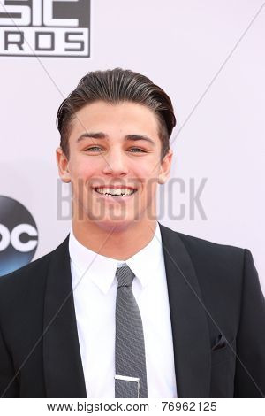 LOS ANGELES - NOV 23:  Tanner Zagarino at the 2014 American Music Awards - Arrivals at the Nokia Theater on November 23, 2014 in Los Angeles, CA