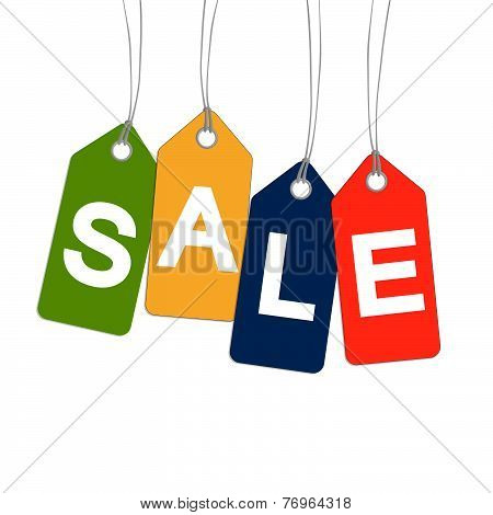 4 Colorful Hangtags With Sale
