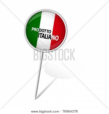 Pin Round - Prodotto Italiano