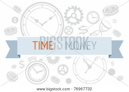Time is money icons concept