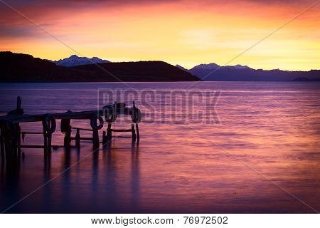 Sunrise over Lake Titicaca in Bolivia