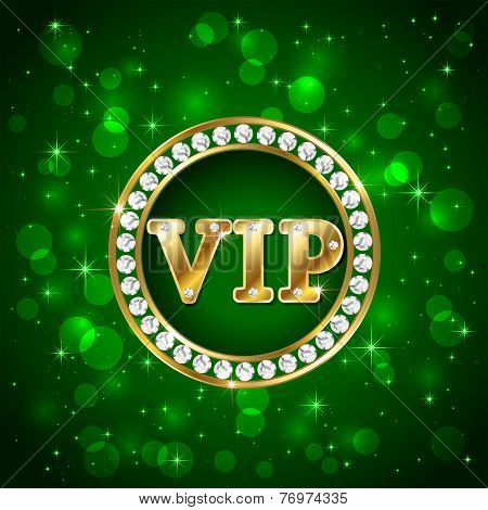 Vip On Green Background