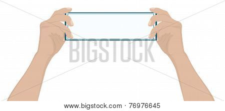 Male Hand Holding A Blank Card