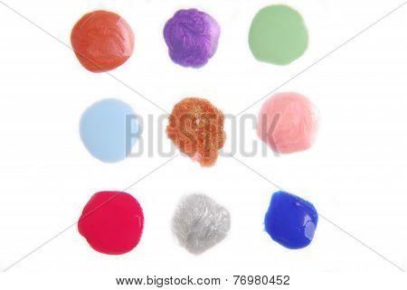 spilled nail polish enamel isolated