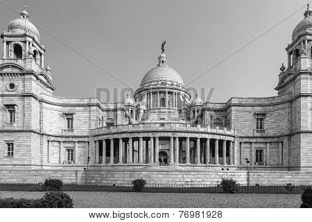Victoria Memorial. Kolkatta, India black and white