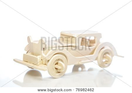 Old Retro Toy Wooden Car