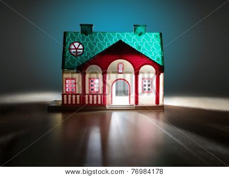 fairy house at night, soft focus