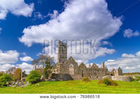 Quin abbey in Co. Clare, Ireland