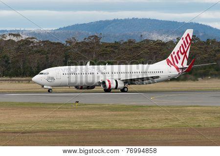 Virgin Australia Passenger Airliner Taxiing