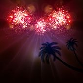 picture of happy new year 2014  - Happy New Year celebration background fireworks art concept - JPG