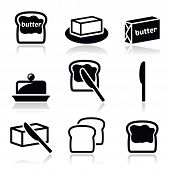 foto of margarine  - Food icons set  - JPG