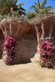 picture of gaudi barcelona  - Park Guell by Antoni Gaudi Barcelona Spain - JPG