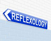 image of reflexology  - Illustration depicting a sign with a reflexology concept - JPG
