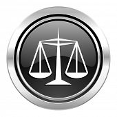 stock photo of justice law  - justice icon - JPG