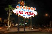 stock photo of las vegas casino  - Signboards Las Vegas at night - JPG