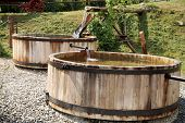 picture of washtub  - Wooden - JPG