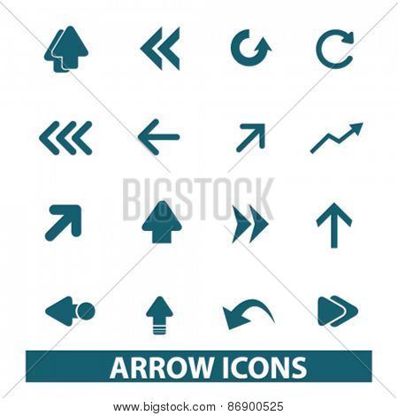 arrow, direction icons, signs design concept set, vector for website, application, print advertising