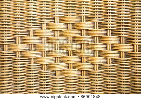 Old Weave Wicker Texture Background