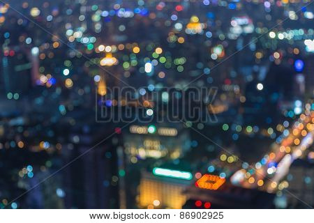 Out-of-focus cityscape night background