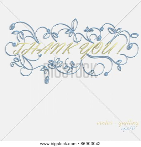 quilling - card