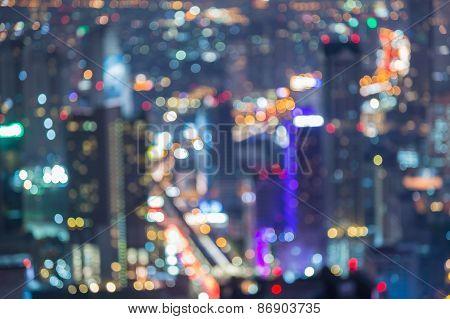 City bokeh lights background