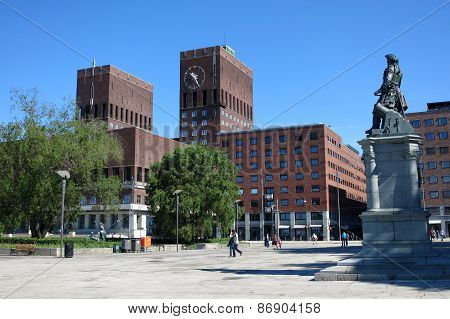 City Hall (Radhus) in center of Oslo, capital of Norway