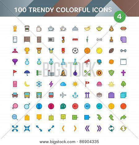 100 Universal Icons Set 4