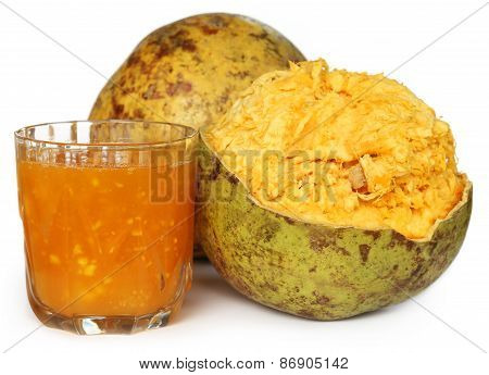 Medicinal Bael Fruit With Juice