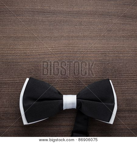 black and white bow tie background