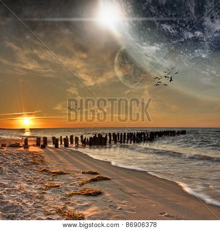 Beach Planet Landscape