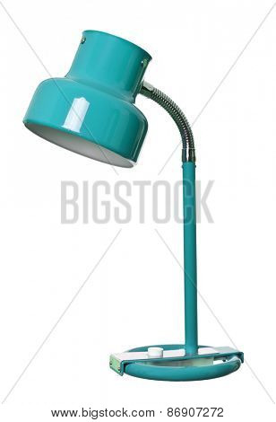 Old Blue lamp isolated on a white background