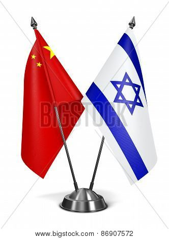 China and Israel - Miniature Flags.