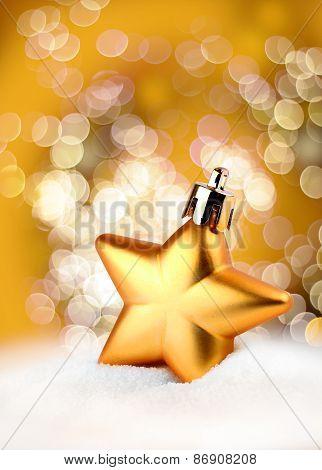 Golden Star Bokeh Light Effect